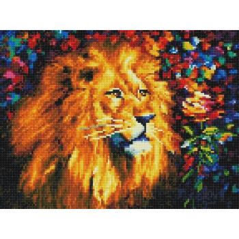"""Алмазная мозаика. Rainbow Art """"Лев"""" 30*40"""