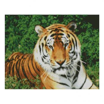 "Алмазная мозаика. Strateg FA10046 ""Взгляд тигра"" 40*50"