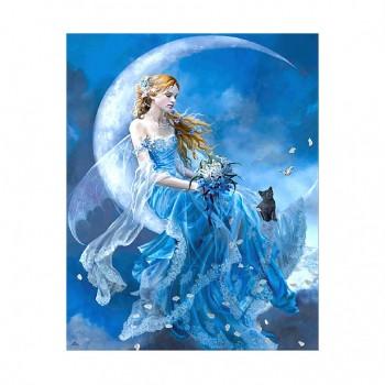 "Алмазная мозаика. Strateg FA40488 ""Девушка на луне"" 40*50"
