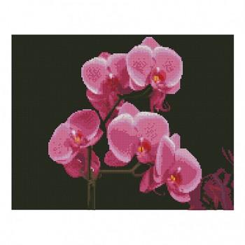 "Алмазная мозаика. Strateg FA11877 ""Розовые орхидеи"" 40*50"