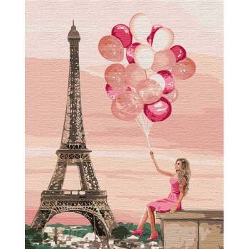 """""""Лиловые краски Парижа"""" 40*50"""
