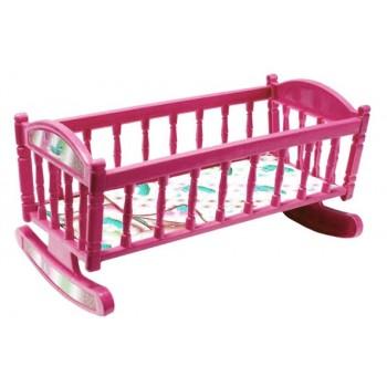 Кроватка для кукол Барби S0013 кроватка-качалка ( S0013(Pink))