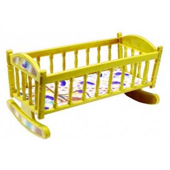 Кроватка для кукол Барби S0013 кроватка-качалка ( S0013(Yellow))