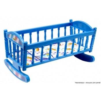 Кроватка для кукол Барби S0013 кроватка-качалка ( S0013(Blue))