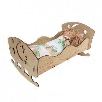 Игрушечная кровать для кукол 172311 фанера 43*23 см