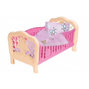 Кроватка для куклы 4494TXK с постельным бельем (Розовая)