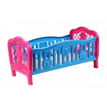 Игрушечная кроватка для куклы 4517TXK, 2 цвета (Голубая)