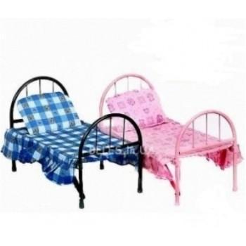 Кроватка для кукол 9342 /2772 железная