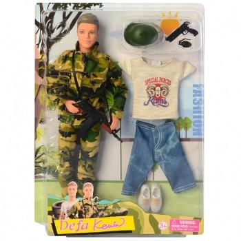 Кукла Кен в военной форме DEFA 8412 на шарнирах (Белый)