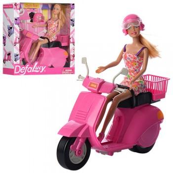 Кукла типа Барби DEFA 8246 на мопеде