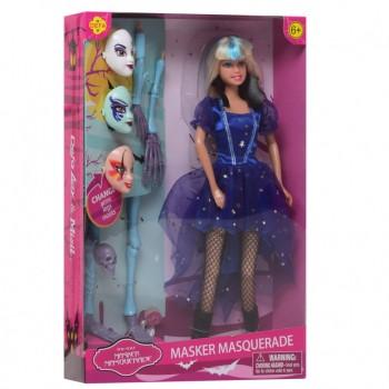 Кукла типа Барби Ведьма DEFA 8397-BF с масками  (Голубой )