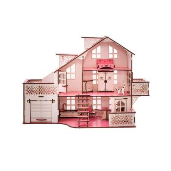 Детский кукольный дом с гаражом В011 и подсветкой