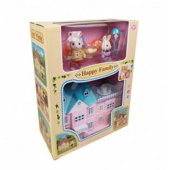 Детский игровой домик для кукол 20034 с зайчиками