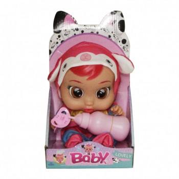 Кукла для девочек CRB 3360 с бутылочкой и соской (Красный)