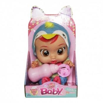 Кукла для девочек CRB 3360 с бутылочкой и соской (Синий)
