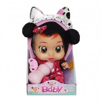 Кукла для девочек CRB 3360 с бутылочкой и соской (Черно-Розовый)