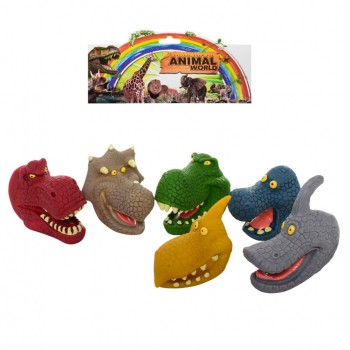 Детский пальчиковый театр Динозавры Z03PT, в наборе 6 штук