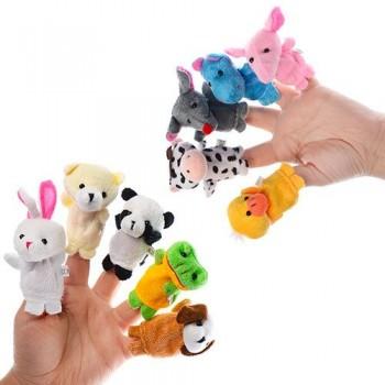 Пальчиковый театр Животные C012, 10 мягких игрушек