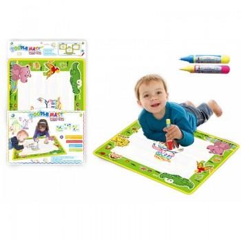 Детский коврик для рисования водой LT3944Green, ручка 2шт
