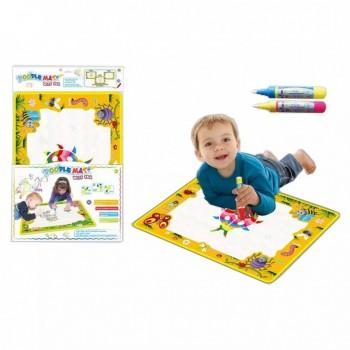 Детский коврик для рисования водой LT3943Yellow, ручка 2шт