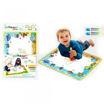 Детский коврик для рисования водой LT3942Blue, ручка 2шт