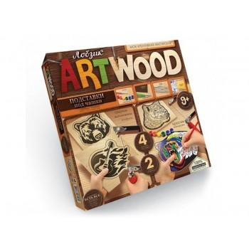 Комплект креативного творчества  подставки под чашки ARTWOOD 5930 для оформления интерьера