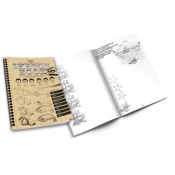 Набор для обучения рисованию SKETCH BOOK 6628DT на укр. языке