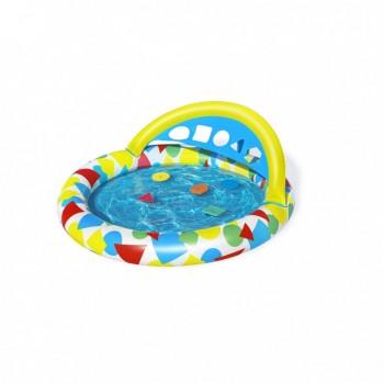 Бассейн детский надувной 52378 круглый, 120-117-46см