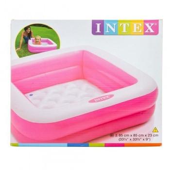 Детский бассейн для купания 57100 высота борта 18 см (Розовый)