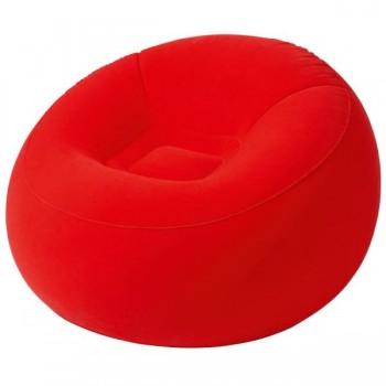 Надувное кресло BW 75052 велюровое (Красный)