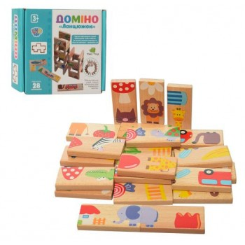 Деревянная игрушка Домино MD 2421 28 деталей