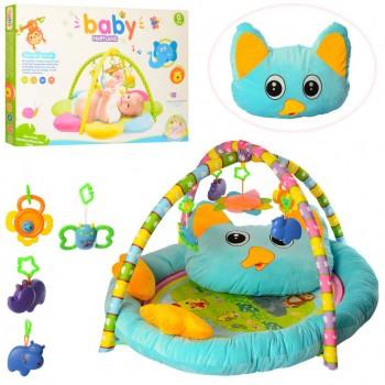 Игровой коврик для младенца PE905 с подушкой