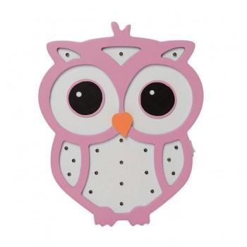 Деревянная игрушка Ночник MD 1566 на батарейках (Розовая Сова)