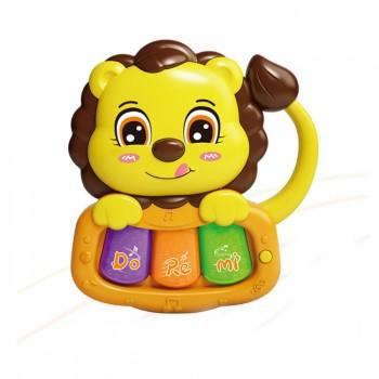Детская интерактивная погремушка 855-58-59-60-61A с музыкой и светом (Лев Жёлтый)