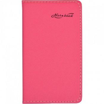 Блокнот 14,5*8,5см в обложке кож/зам, клетка 70660 (Розовый)