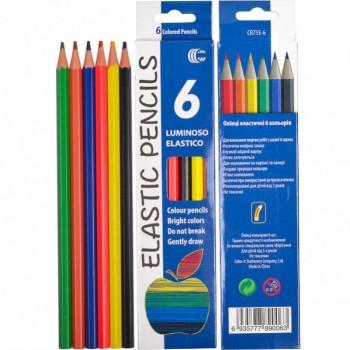 Детские карандаши для рисования CR755-6 Luminoso elastico