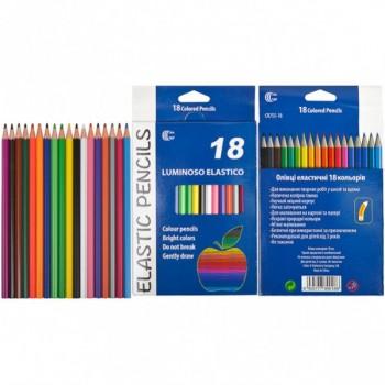 Детские карандаши для рисования CR755-18 Luminoso elastico