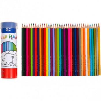 Детские карандаши для рисования в тубусе  9801-36, 36 цветов