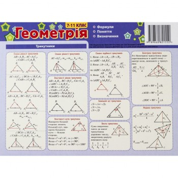 Картонка-подсказка Геометрия 7-11 класс 66447