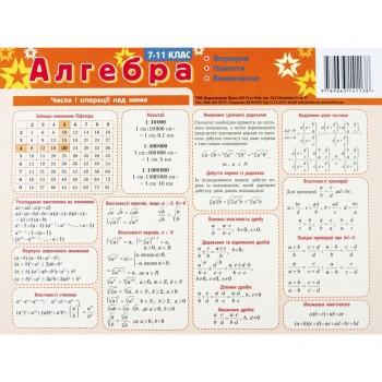 Картонка-подсказка Алгебра 7-11 класс 66438