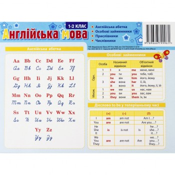 Картонка-подсказка Английский Язык 1 класс 66440