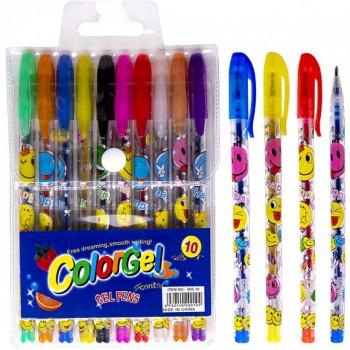Набор ручек ароматизированных гелевых 10 цветов 805-10