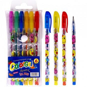Набор ручек ароматизированных гелевых 6 цветов 805-6