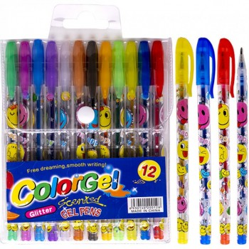 Набор ручек ароматизированных гелевых 12 цветов 805-12