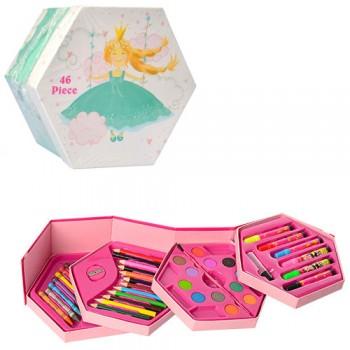 Детский набор для рисования MK 3223, 4 яруса (Принцесса)