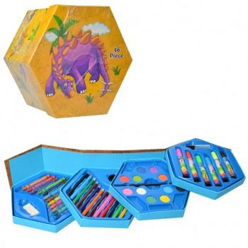 Детский набор для рисования MK 3223, 4 яруса (Динозавры)