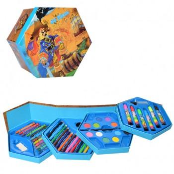 Детский набор для рисования MK 3223, 4 яруса (Пираты)
